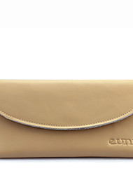 KATE&CO Genuine Leather Solid Color Wallet(Cream)