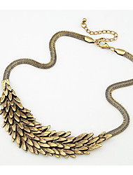 Miss Marry Serpentine Exaggerated Feather Angel Necklace