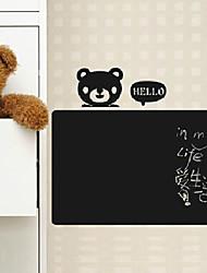 Blackboard sticker mural, amovible, Bonjour ours