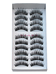 20 Pairs European Fiber EyeLash Black False Eyelashes