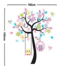 Owls and Trees Pattern DIY Adhesive Removable Wall Decal