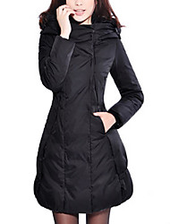 Women's MD-Long Fashion Slim Down Jacket