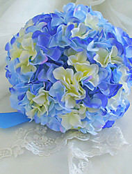 """Wedding Flowers Round Roses Bouquets Wedding / Party/ Evening Blue 8.66""""(Approx.22cm)"""