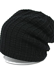 Men's Thin Solid Color Knitted Hat