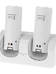 Dual Charging Dock + 2 Batteries for Nintendo Wii