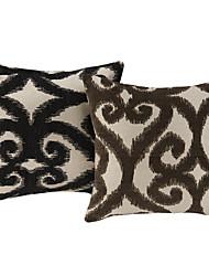 """18 """"Squard Grosso Euro Style Chenille poliéster Pillow Decorativo Com Insert"""