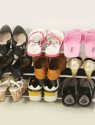 Creative 3 couches d'acier inoxydable étagère pour chaussures