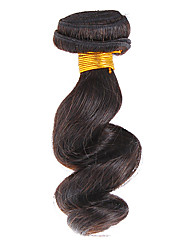 "12 ""100% cheveux humains vague lâche Natural Black Hair Extension"