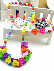 Girl's Beautiful Flowers Theme Jewelry Set (Necklace&Bracelet)(Random Color)