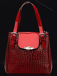 QingWu Leisure Fashion High-Capacity Stone Stripe Obblique Shoulder Hangbag(Red)