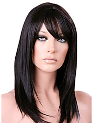 14inch Super Straight Indian Remy Hair Lace Front Wig with Bang