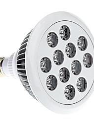E27 12W rojo y azul de luz LED del bulbo del punto (85-265V)