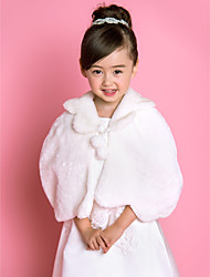 Flower Girl's Faux Fur Evening Party/Wedding Shawl
