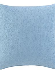 """18 """"Squard bleu épais Chenille polyester coussin décoratif avec insert"""
