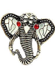 Personnalité afflux de personnes en Europe et Amérique Bijoux Diamond Ring modèles Elephant Head