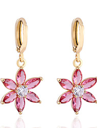 Boucles d'oreilles en or 18 carats Zircon ER0109 de Yueli femmes