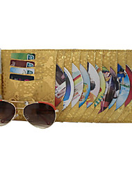 Modern Leather Gold Butterfly CD Storage Wallet