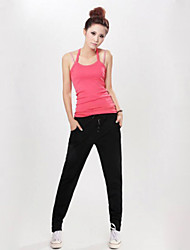 Women's Casual Pants , Cotton Micro-elastic Black/Gray/Red