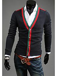 LJCP Moda Personal adelgaza Sweater Cardigan (Negro)