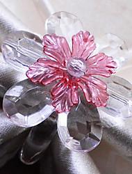 rond de serviette en cristal de marguerite, un ensemble de 12, perles acryliques dia3.5cm