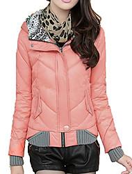XD Nieuw eenvoudig Thicken Korte Afslanken gewatteerde jas (Pink)