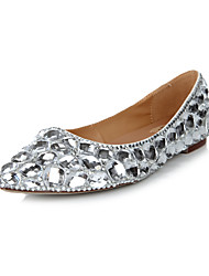 Leather Flat Heel Ballerina Flat Shoes