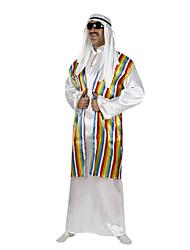 Costumes de Cosplay Costume de Soirée Prince Fête / Célébration Déguisement d'Halloween Blanc Rayé Gilet Robe Casque Halloween Carnaval