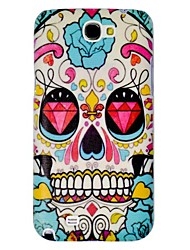 Diamond Skull Embossment Painting Pattern Plastic Hard Back Case Cover for Samsung Galaxy Note2 N7100