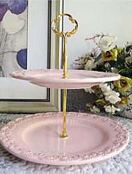 """2-Tier Graceful Dessert Stand, Diameter 10""""/8"""" Plates"""