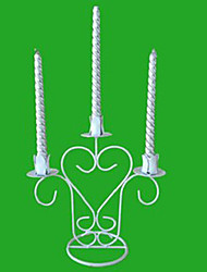 "9.5 ""H Style Romantique White Iron Chandelier Bougeoir"