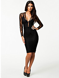 Women's Dresses , Polyester/Spandex Sexy/Bodycon LingerieOcean
