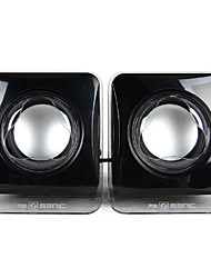 SENIC SN-405 Portable Fashional Mini Speaker for Laptops/PC (1 Pair)