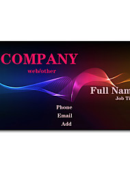 200pcs Personalized 2 Sides Printed Matte Film Abstract Pattern Business Card