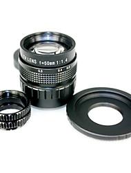 Черный 50mm F1.4 объектив CCTV для Fuji FX + С горы на Fuji FX адаптера 2 Макро Колец