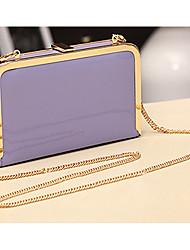 Cute Women's Lady Chain Mini Bag Hand Bag Candy Color Hard Cover Bag Purse Clutch Wallet 6 Colors