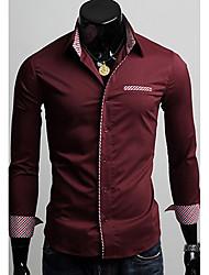 Men's Casual Shirts , Cotton Casual DJJM