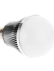 E27 9W 9xHigh Мощность 810LM 6000K Холодный белый свет Светодиодные лампы глобус - Серебряная гарантия (85-265В)