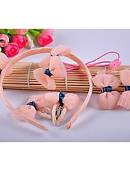 Прекрасный набор аксессуаров для девочек (повязка и связи волос и клипы)