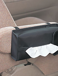 Modern Solid Black Canvas Tissue Box