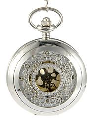 Masculino Relógio de Bolso Quartzo Banda Vintage Prata