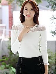 Women's Casual Shirts , Cotton/Mesh/Viscose Casual YGR