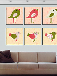 Stretched Canvas Print Art Animal Birds Design Set of 6
