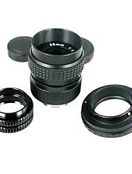 Черный 25mm f/1.4 объектив CCTV для Pentax Q + C-Pentax Q dapter 2 Макро Колец