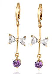 Boucles d'oreilles en or 18 carats Zircon ER0237 de Yueli femmes