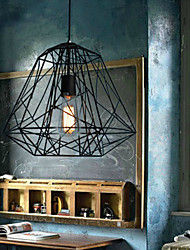 Max 60W Vintage / Retro Bulb Included Painting Metal Pendant Lights Living Room / Bedroom / Dining Room / Entry / Hallway / Garage