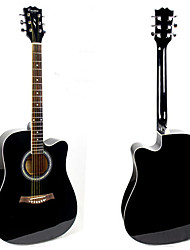 """41"""" Acousitc Guitar Package Plywood-Spruce Black-Lacquer"""
