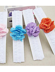 Girl's Dots Flower Headband