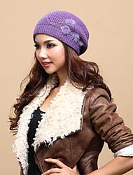 Xiaerbeiluo Knitted Mink Hair Hat(Purple)