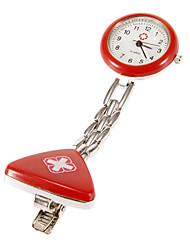 Patrón Unisex Cruz Nurse Pocket Watch (variedad de colores)