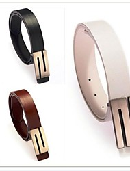 Faux Couro Premium S Forma das mulheres novas da forma do metal fivela de cinto